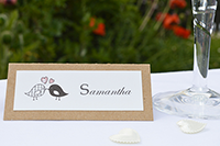 Image of Velvet Heart place card.