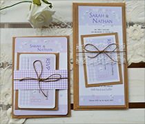 Gingham and bows invitation bundles