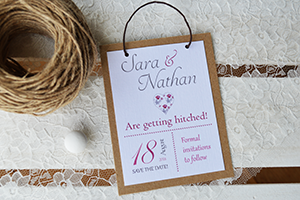 Example of simple save the date card, no loop and single card.