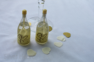 Image of Ivory top champagne bubbles for wedding tables.