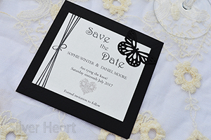 Gothic Diamante Save the Date