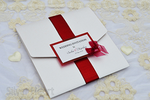 Broderie Butterfly Square Pocketfold invitation.