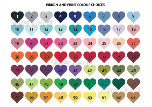Colour chart for passport invitations