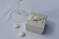 Image of Ivory Broderie Box (Dior Buckle) favour.