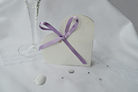 Image of White Linen Heart favour.