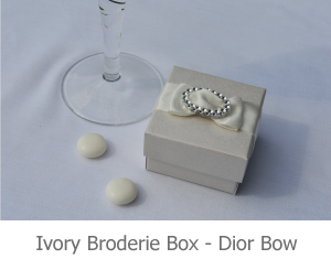 Ivory Broderie Box with Dior Bow, image
