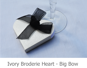 Ivory Broderie Heart - Big Bow- image.