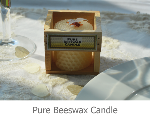 Pure Beeswax Candle favour image.
