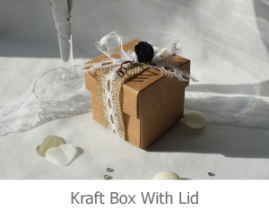 Kraft box with lid, favour image.