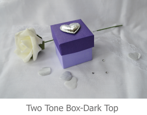 Two Tone favour box with dark top, favour image.