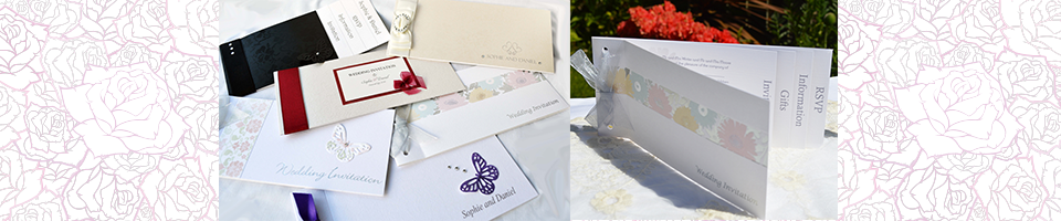 Slider with images of various cheque book designs and close up of Ditsy Daisy cheque book.